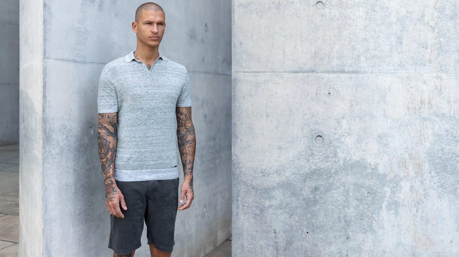 DRAKEWOOD Leinen Polo-Shirt Stefan Biergans