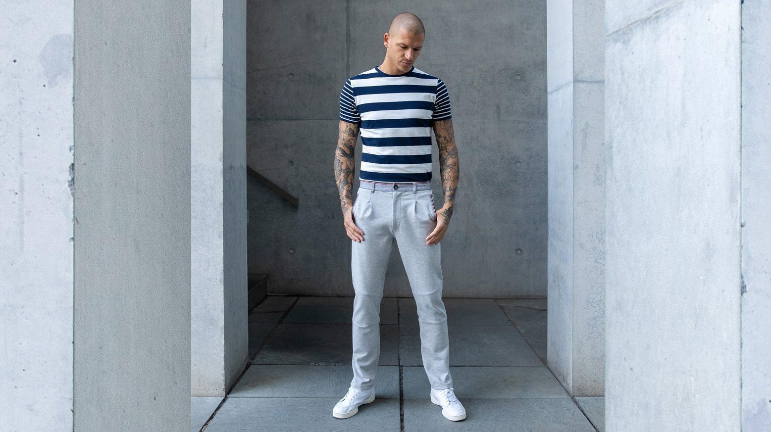 DRAKEWOOD Supima Streifen-T-Shirt Stefan Biergans