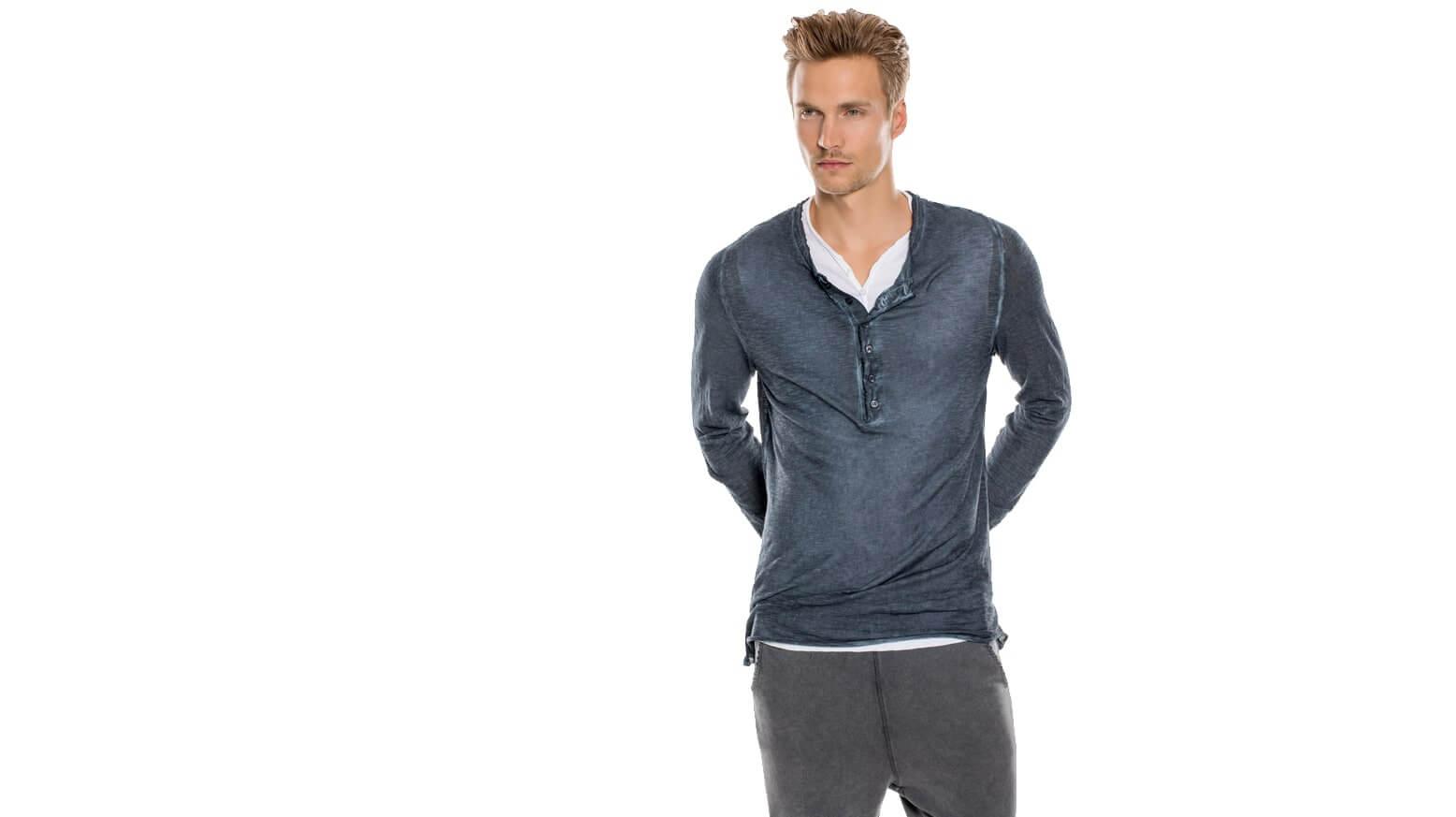 DRAKEWOOD Henley Supima Shirt Stefan Biergans